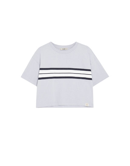 T-shirt with chest stripes