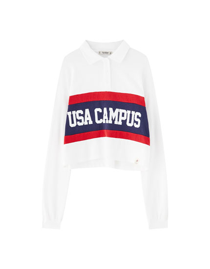 'USA Campus' polo shirt