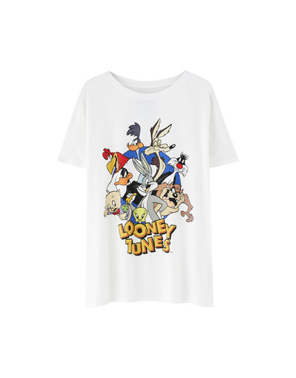 T-shirt Looney Tunes com personagens