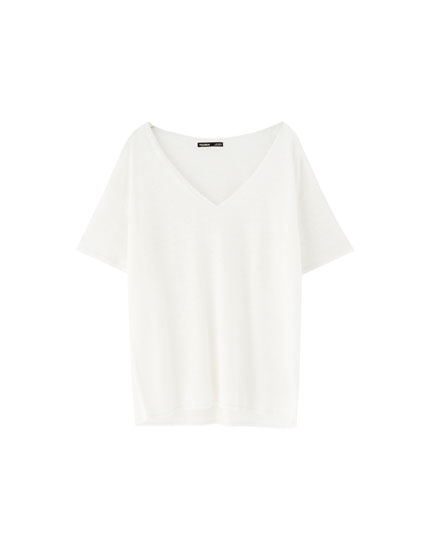T-shirt basic lin