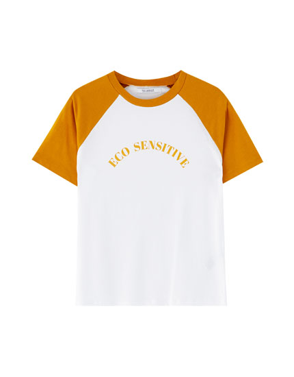 Eco-friendly raglan sleeve T-shirt