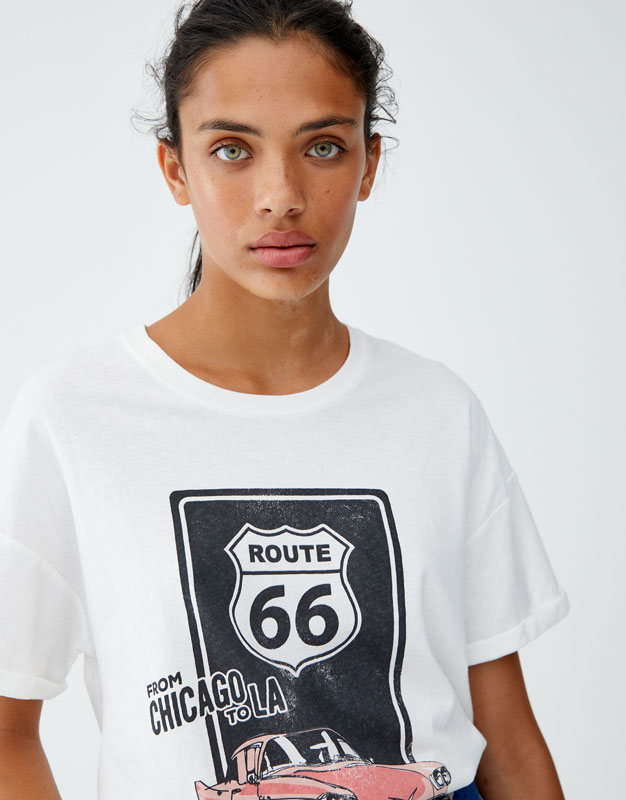 Shirt Route 66 by Pull & Bear