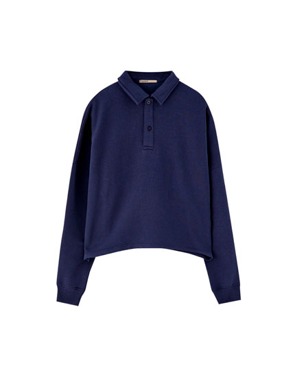 Basic long sleeve polo shirt