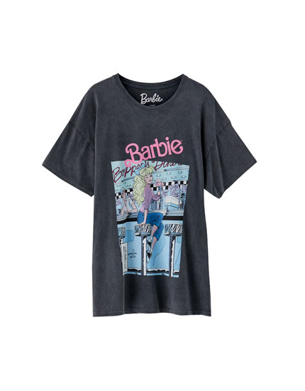T-shirt with Barbie print on the chest