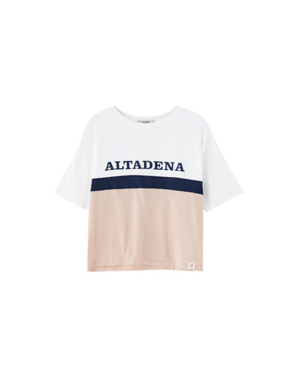 T-shirt com color block 'Maryland'