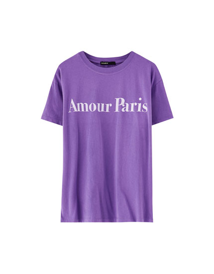T-shirt inscription « Amour »