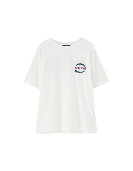 Varsity T-shirt with back slogan