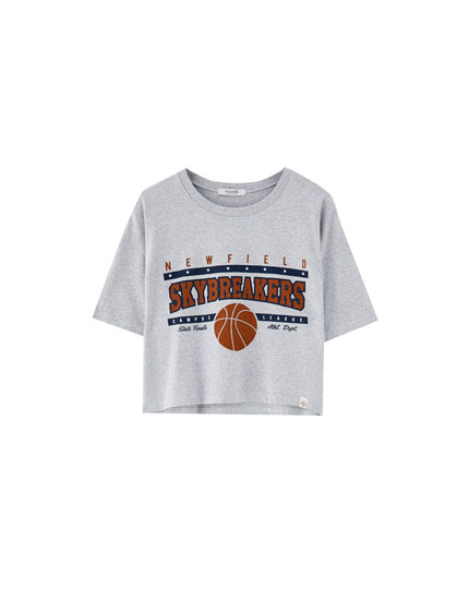 Grey basketball T-shirt