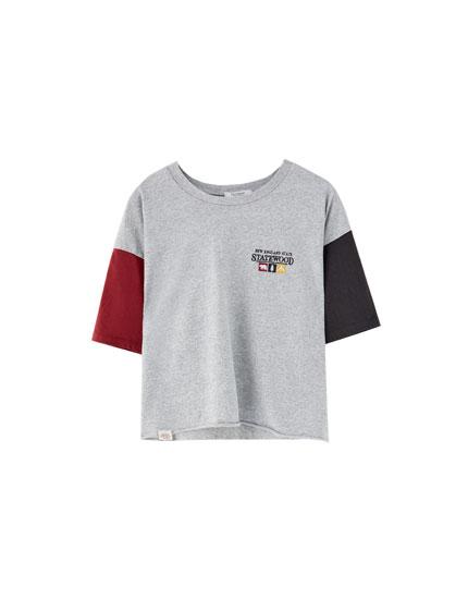T-shirt manches couleur