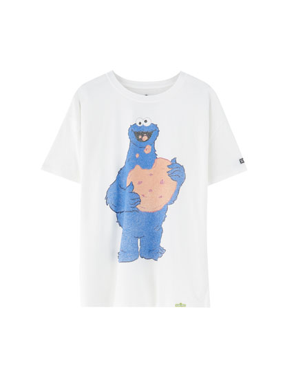 T-shirt med Cookie Monster fra Sesame Street