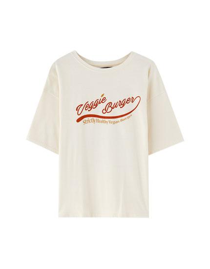 T-shirt i bomuld med grafisk print