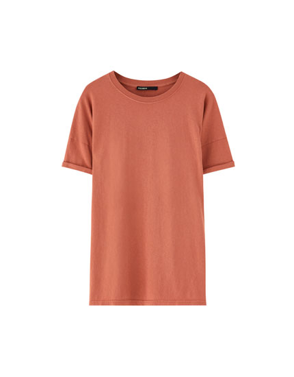 Basic plain short sleeve T-shirt