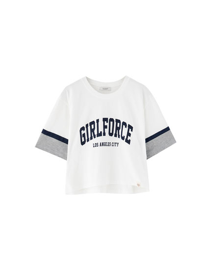 Camiseta college panel mangas