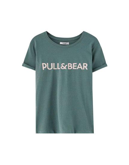 T-shirt met korte mouw en logo