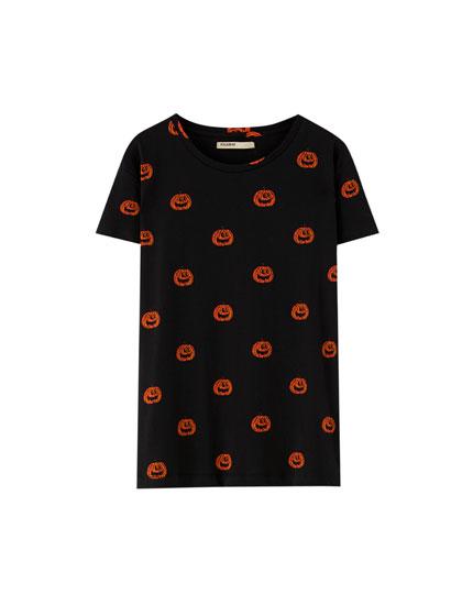 Halloween Shirt mit Kürbissen