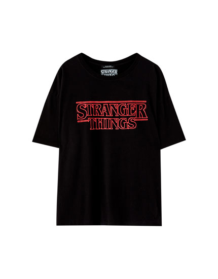 Netflix Stranger Things neon logo T-shirt