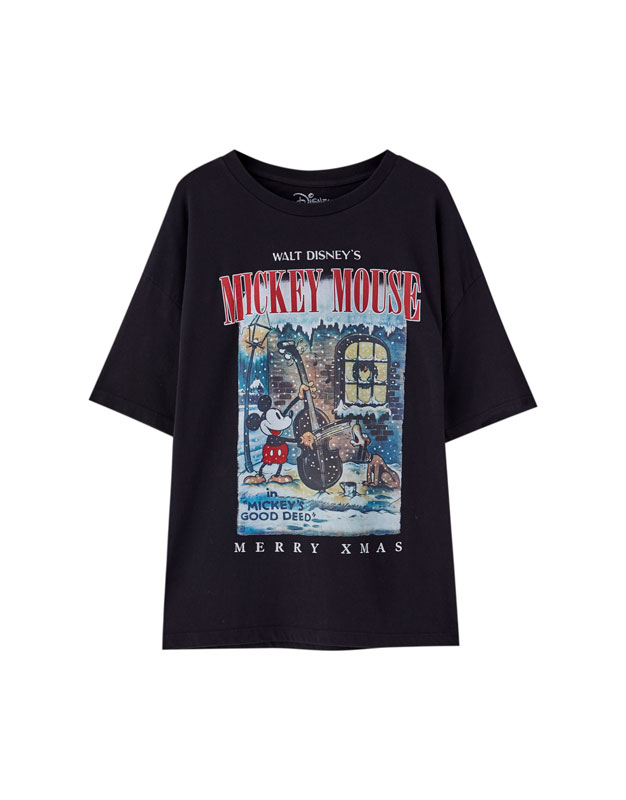 Camiseta Mickey amp;bear Pull Negra Mouse rrWn0Pv