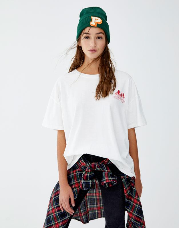 Netflix Stranger Things Slogan T Shirt by Pull & Bear