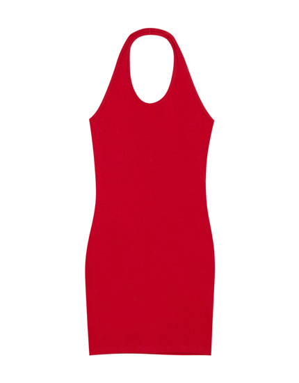 Fitted halter neck dress
