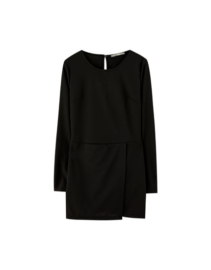 Long sleeve skort dress
