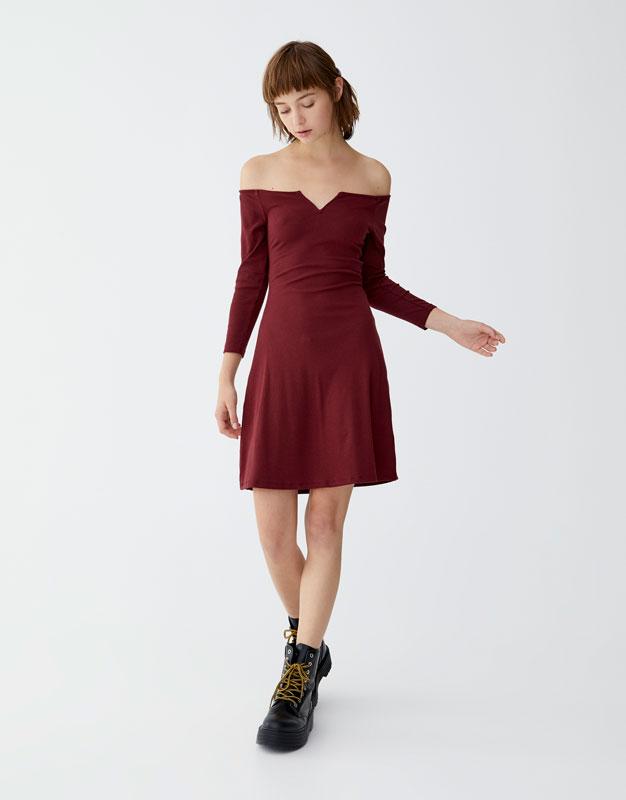 7261c240e55b Μίνι φόρεμα ριπ - PULL BEAR