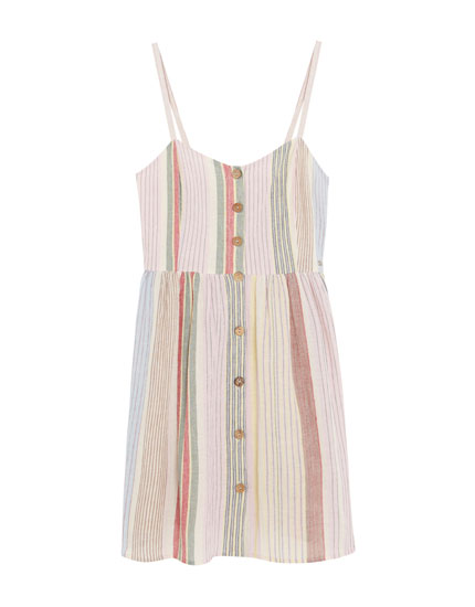 Rustic multi-stripe Paradise dress
