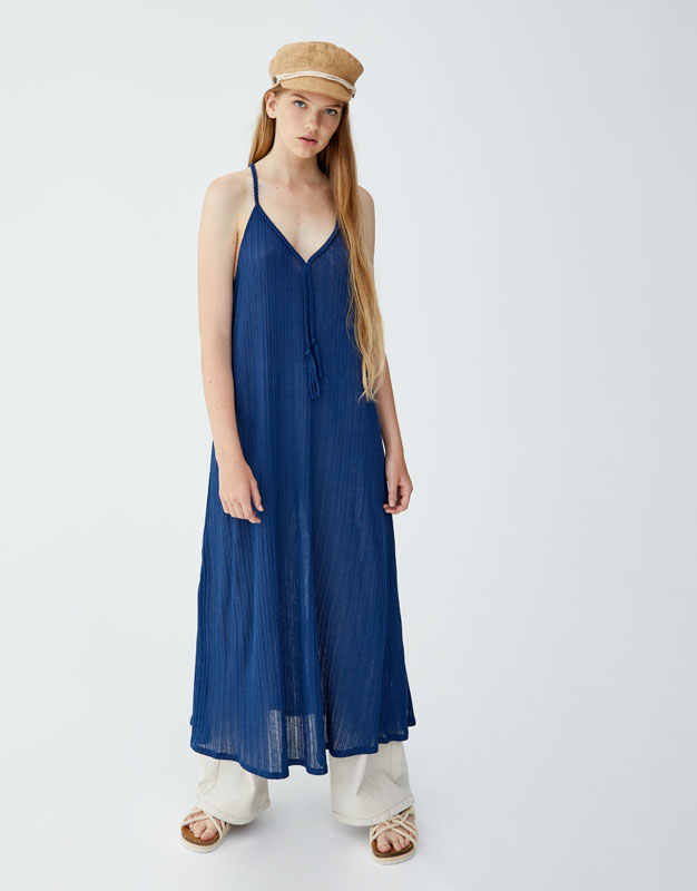 Pull & Bear - Dress with braided straps - 5