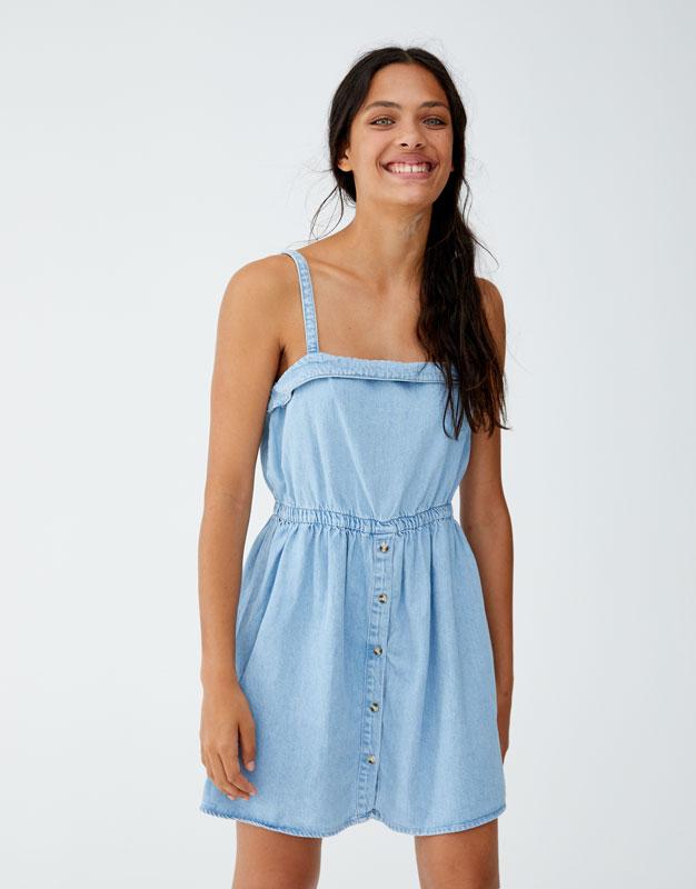 Kleid Mit Gummizug In Der Taille by Pull & Bear