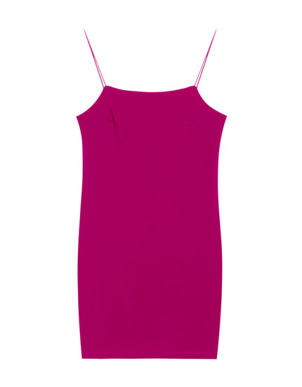 Strappy dress with straight-cut neckline
