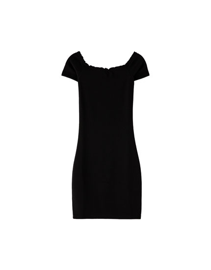 Plain boatneck dress