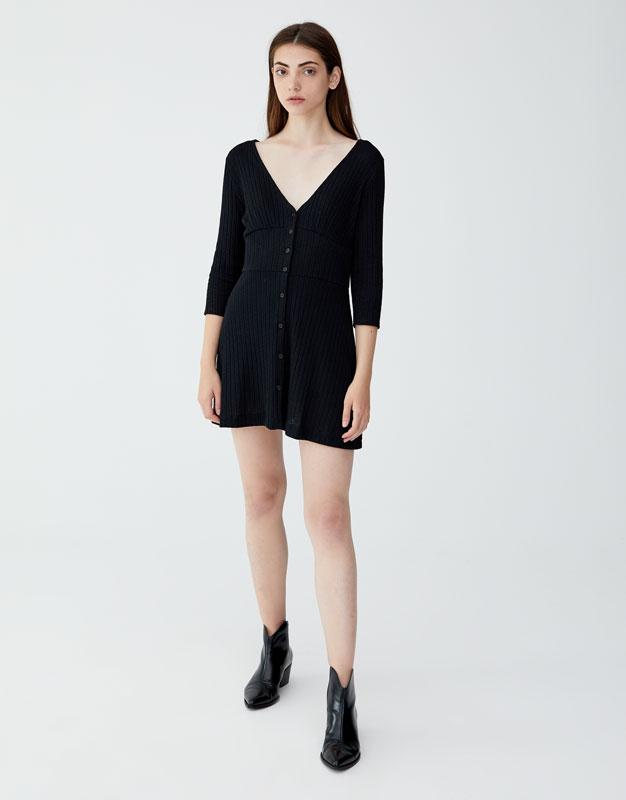3/4 Kollu Fitilli Elbise by Pull & Bear