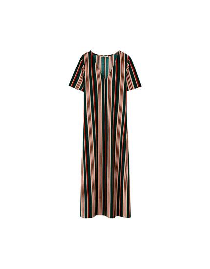 Long multi-stripe dress