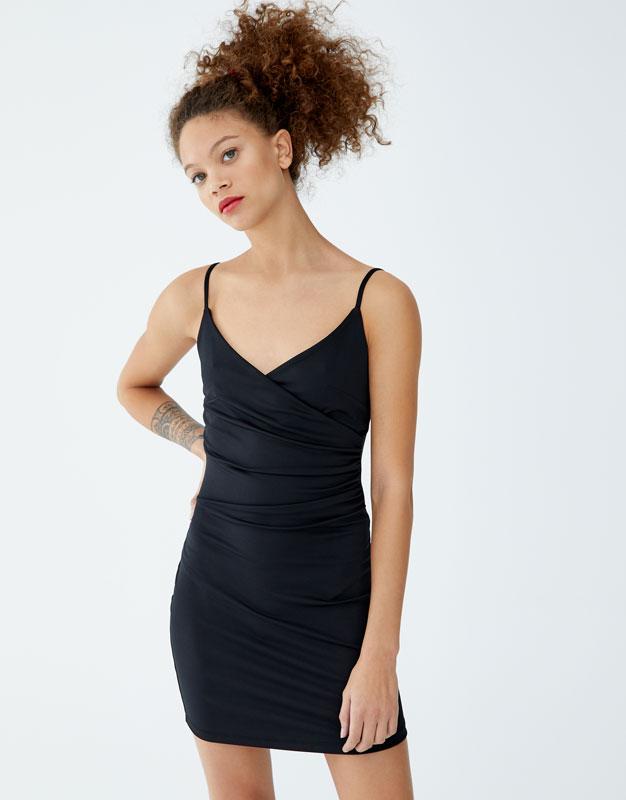 Short Wrap Dress by Pull & Bear