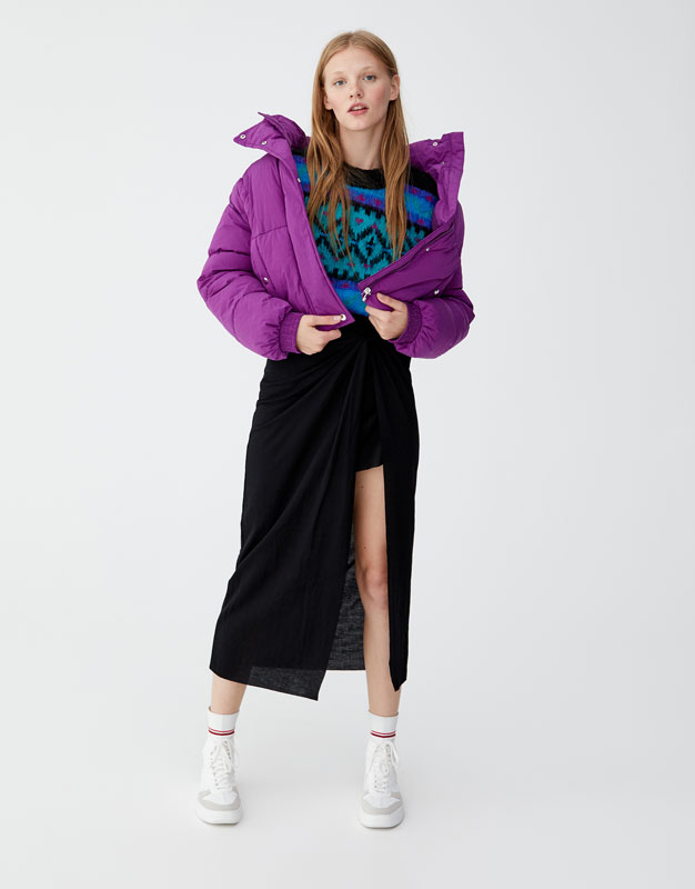 Join Life Midi Skirt With Knot by Pull & Bear