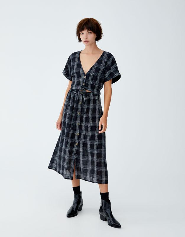 Robe Midi Avec Jupe Amovible by Pull & Bear
