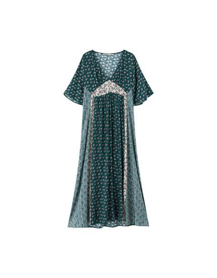 Платье миди в стиле бохо