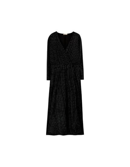 Shimmer midi evening dress