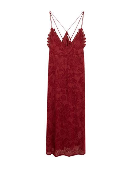Midi garuma kleita ar lencēm