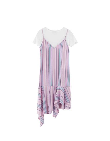 Floral print T-shirt dress