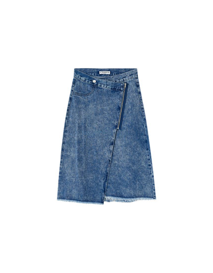 Denim midirok