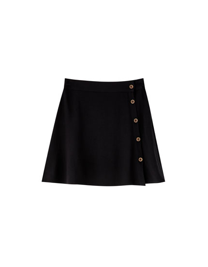 Basic button-up skirt