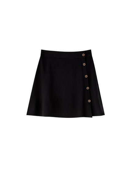 Falda básica botones