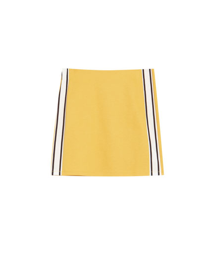 Mini skirt with side stripes