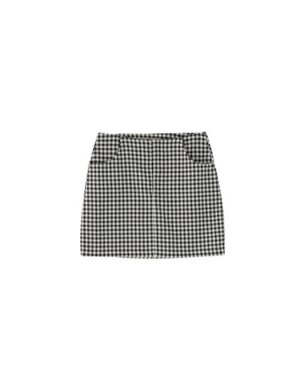Tailored mini skirt with pockets