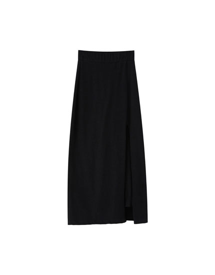 Long skirt with inner leggings