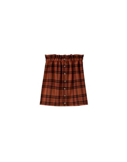 Minifalda paperbag a cuadros