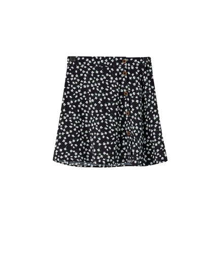 Basic printed skirt