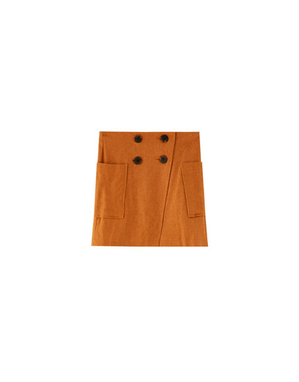 Double button fastening skirt