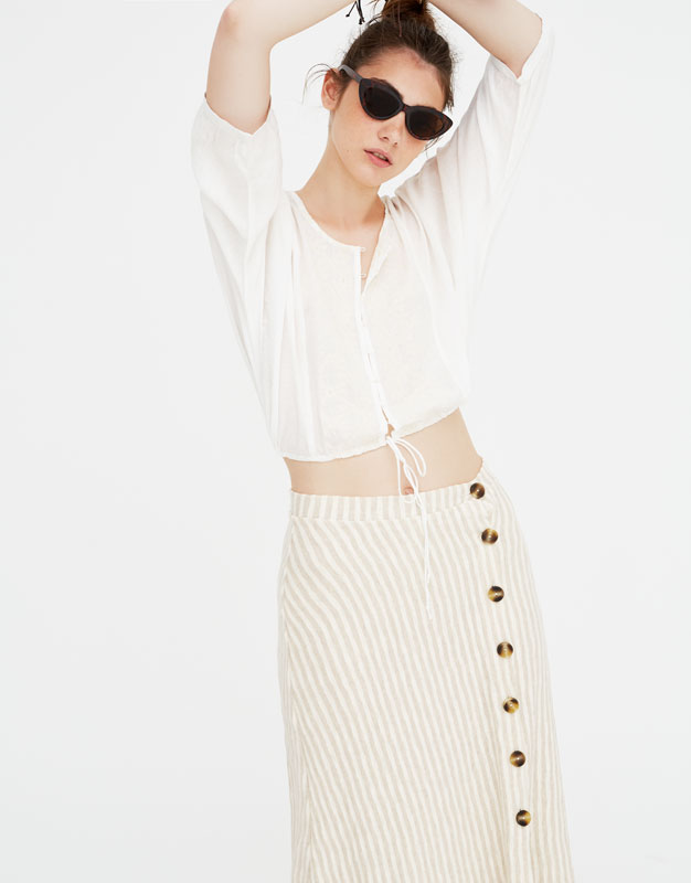 Top Manches Chauve Souris Dentelle by Pull & Bear