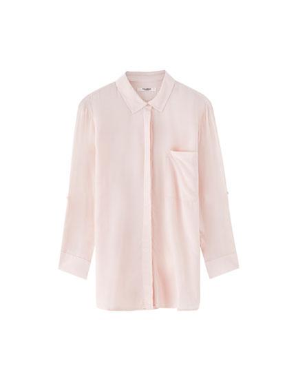Basic blouse met 3/4 mouw